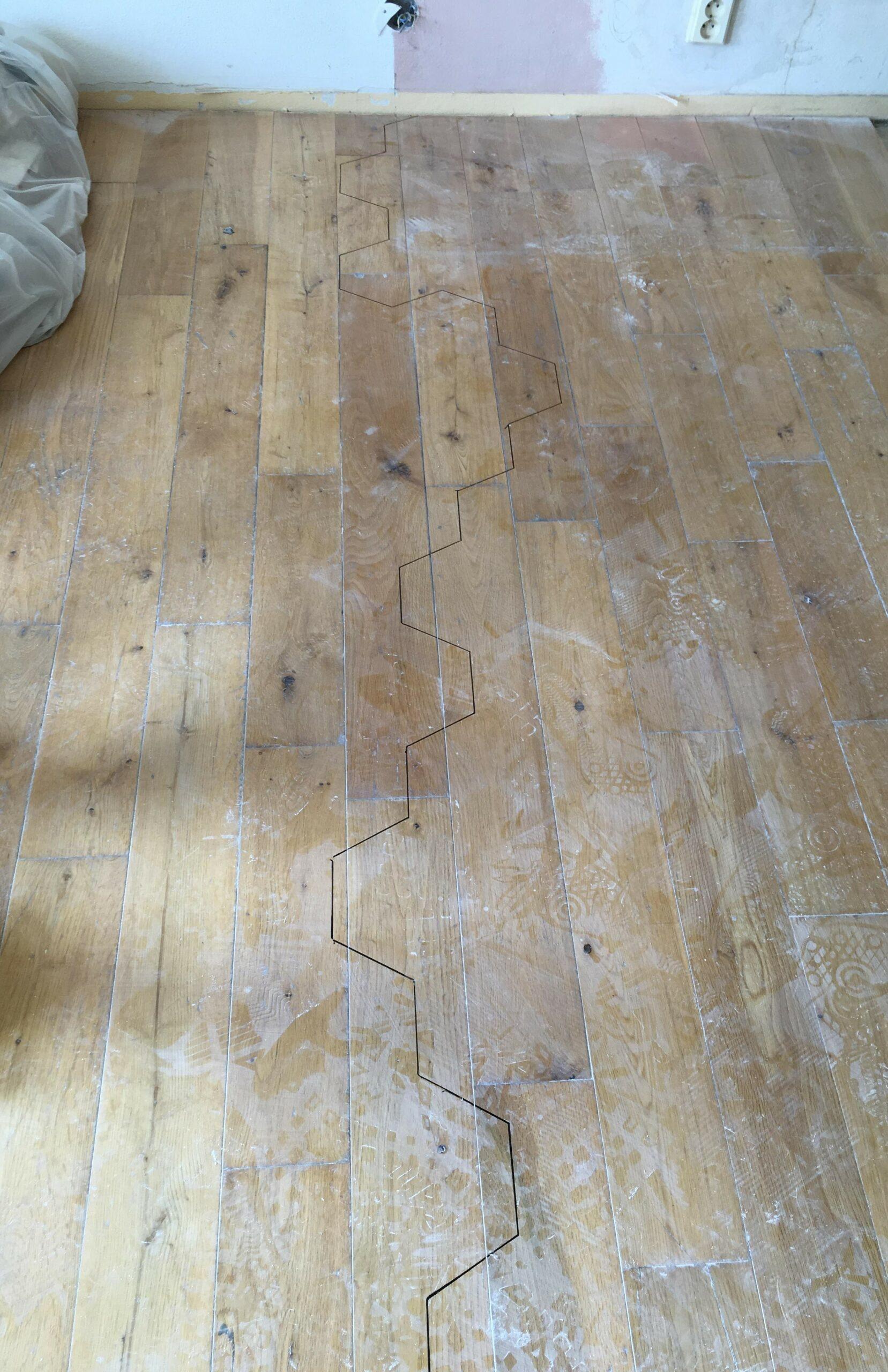 Vila Smíchov - repas masivní dřevěné podlahy 5