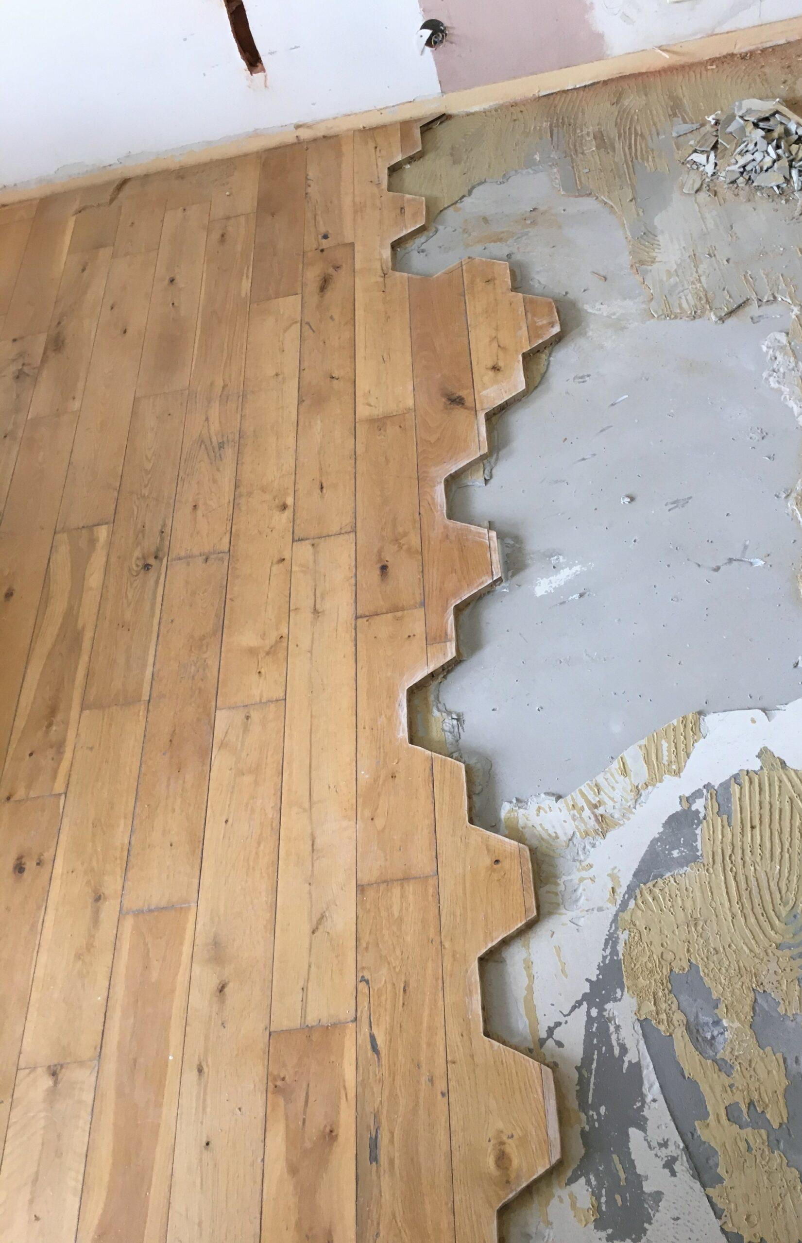Vila Smíchov - repas masivní dřevěné podlahy 4