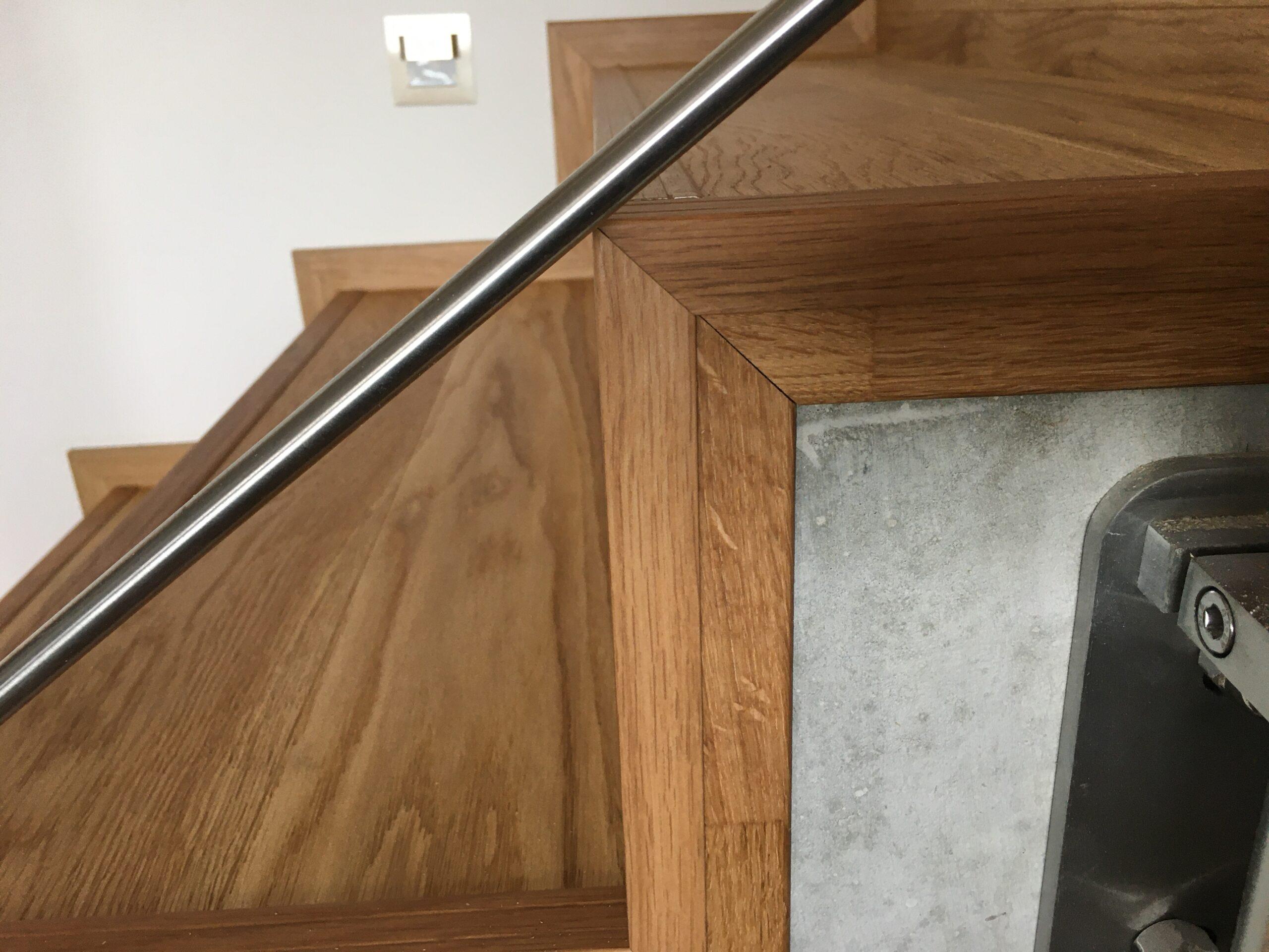 RD Nové Strašecí - obložení schodiště dřevěnou podlahou 1